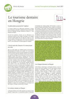 article tourisme dentaire hongrie